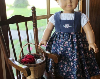 SALE!! Kirsten's Blue Hand Embroidered Dirndl and Blouse -Ready to Ship