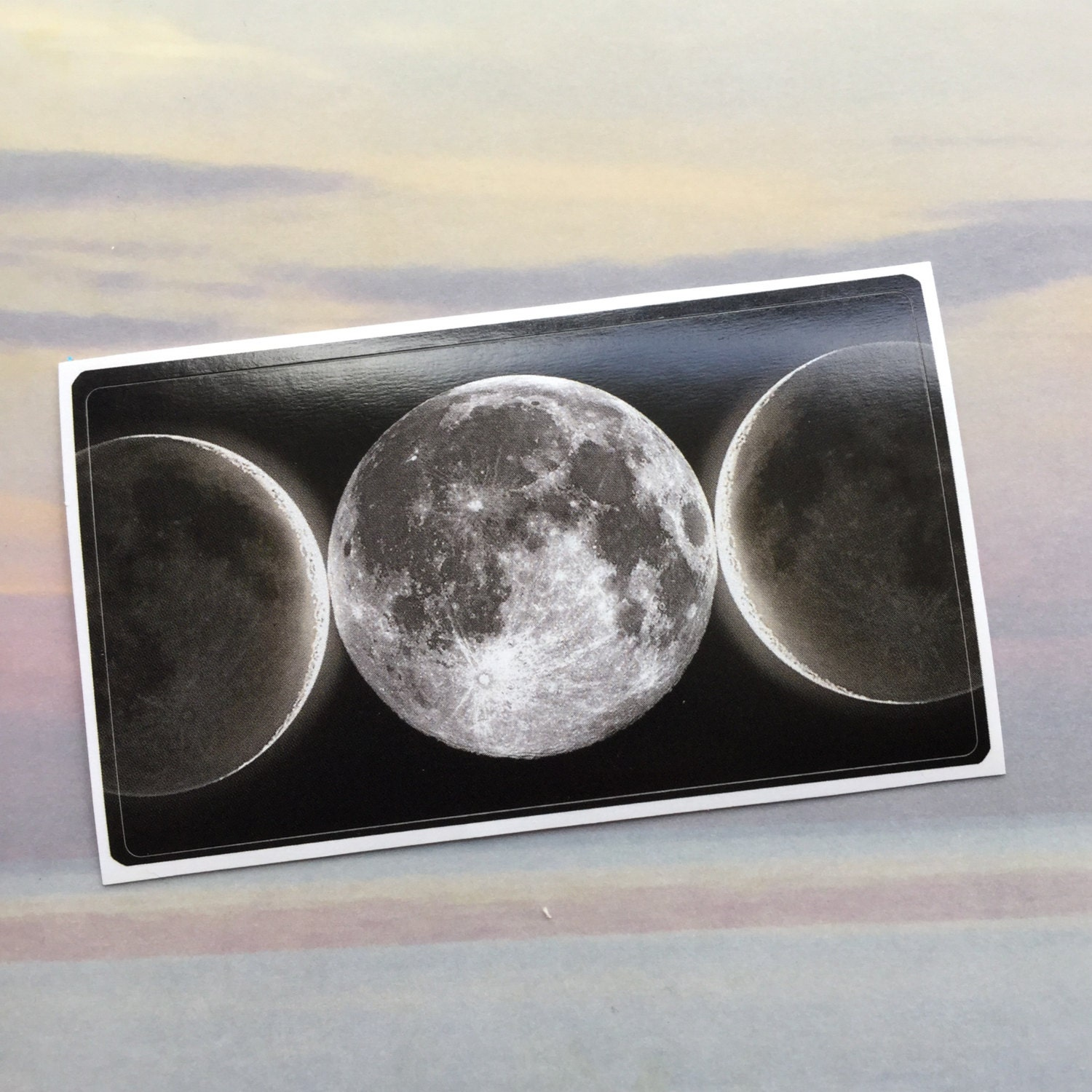 Moon Sticker Triple Goddess Business card size Dry locations only
