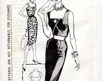 1960s Bombshell Wiggle Dress Pattern - Vintage Spadea NS-252 - Bust 36 1/2 FF Norman Hartnell