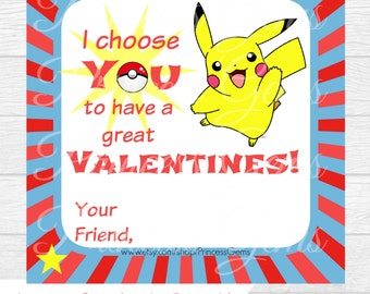 Declarative image with pokemon valentine cards printable