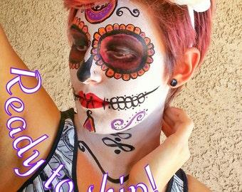 Flower Crown Headband Day of the Dead Dia De Los Meurtos Crown Flower Skulls Skeleton Catrina Headdress READY TO SHIP