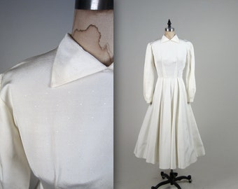 1950s swiss dot wedding dress • vintage 50s dress • cupcake prom dress