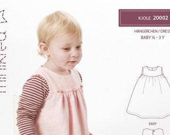 Minikrea 20002 Dress Paper Sewing Pattern for Babys Dänish Design