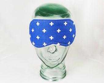 Swiss Cross Sleep Mask mens eye mask sleeping mask quick shipping last minute gift adult sleep mask for man fabric eyemask blue blindfold