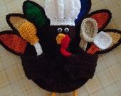 Free Shipping Thanksgiving  Crochet Turkey Potholder Wall Decor