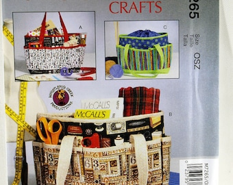 McCall's 7265, Craft Project Bag Sewing Pattern, Sewing Pattern, Knitting Project Bag Pattern, Bag Sewing Pattern, New and Uncut