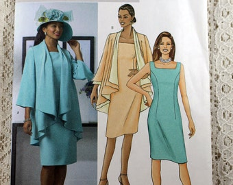 Butterick 4387, Misses' Jacket and Dress Sewing Pattern, Dress Pattern, Jacket Pattern, Misses' Pattern, Misses' Size 8, 10, 12, 14, Uncut