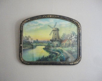 Windmill Print in a Beautiful old Frame