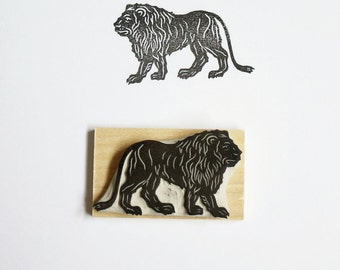 Majestic Lion - Hand Carved Stamp
