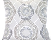 Taupe Tan Gray Pillow Covers, Decorative Throw Pillows, Tan Cushions, Ecru Tan Grey White Charm, Euro Sham, Couch Bed Sofa, ALL SIZES