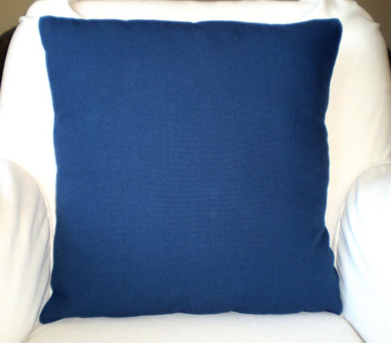 Solid Navy Blue Pillow Covers Decorative Throw by FabricJunkie1640