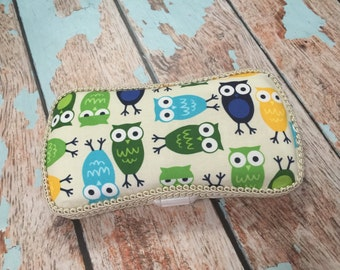 Owl Travel Wipe Case Baby Wipe Case Ready to Ship