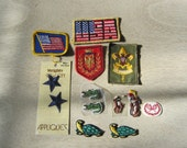 Vintage Patches Assorted Sports, Tennis, Turtle, Boy Scouts, Alligator, Golf, Polo, USA, Flag, America, Patriotic, Stars