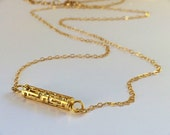 Minimalist Bar Necklace in Gold