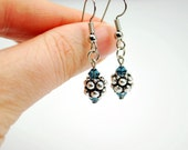 Blue and Silver Bubble Earrings