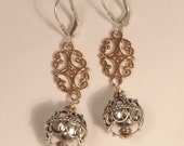 Bali Silver and Rose Gold Earrings