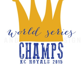 Kansas City Royals World Series 2015 Art Printable
