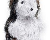 Toy Daddy Hedgehog Art Doll Black Grey Fleck  Faux Fur Silver Grey Plush Face and Belly Unisex Kids Pram Cot Toy  Christmas Stocking Stuffer
