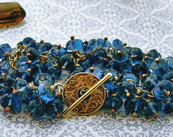 London Blue Topaz Bracelet, Blue Topaz Bracelet, SALE - See Shop Announcement