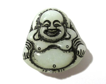 CARVED Buddha Pendant Agate Jade Stone Focal Pendant Drop Natural Stone Buddha Carved Spiritual Religious Jewelry Mosaic Supplies (G166)