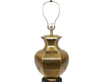 Frederick Cooper Brass Ginger Jar Lamp Asian Hollywood Regency