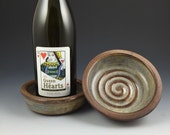 Wine Coaster, Red Wine Bottle Coaster with Textured Rim, Wine Holder
