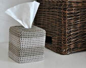 Modern Square Tissue Box Cover Nursery Decoration Taupe Ombre Home Decor Kleenex Box Cover