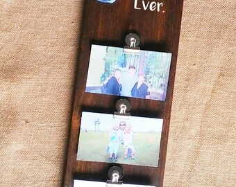 Wood Photo Holder, Customized Picture Holder, Personalized Photo Sign