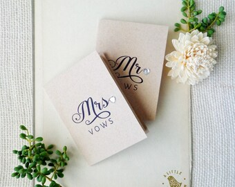 Mr and Mrs vow books. Silver heart wedding vow books. Silver applique heart books. VB493