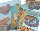 Rocks and Minerals Color Book Plates Photographs Illustrations Prints Pages Gold Copper Lot