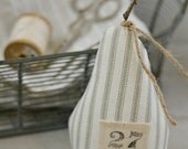 Fabric Pear-Ticking-Farmhouse