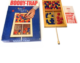 Vintage 1965 Booby Trap Game, Parker Brothers, Spring Bar Game, Family Game Night, Vintage Board Game, 60's Board Game, Retro Board Game