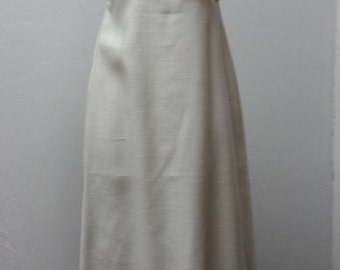 Weekend Sale 34% off 1960s Wedding Gown by Emma Domb, Creamy White, Size S/M, #19107