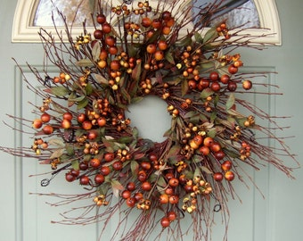 Fall Wreath - Fall Wreath Berries - Wreath for Fall