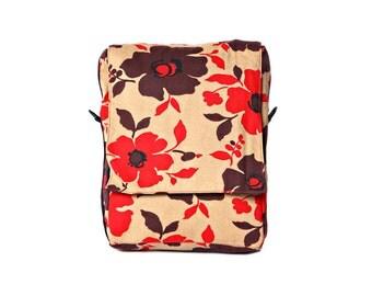Printed , canvas,floral Padded Laptop Bag , Messenger Bag , Backpack - Niko