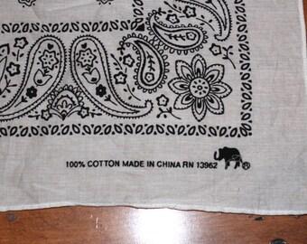 Elephant Trunk up  Bandana Scarf /100 percent cotton rn13962