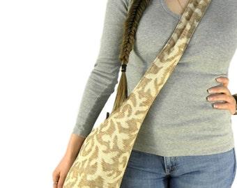 Crossbody Hobo Bag - Hippie Bag - Women's Crossbody Bag - Vegan Bag - Hobo Shoulder Bag - Boho Bag - Sling Bag for Women - Brown Hobo Bag