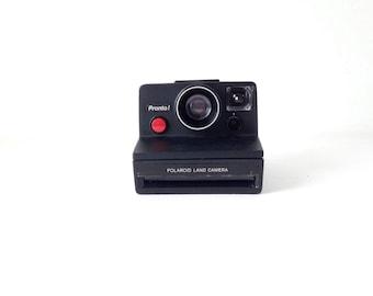 POLAROID red button vintage 80s very RARE black pronto Sx-70 POLAROID camera