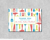 Tool & Kitchen Shower Thank You Cards - His and Hers - Personalized Printable File or Print Package Available - #00008-TY4B