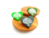 I LOVE TREES Mini Heart Shaped Tree Brooch, Pin Badge, Nature Lovers, Polymer Clay, Three colours to choose from, Supremily Jewellery