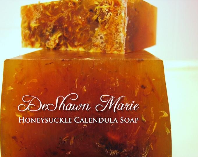 SALE SOAP - 3 lb. Honeysuckle Calendula Vegan Handmade Soap Loaf, Wholesale Soap Loaves