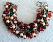 Charm Bracelet, Cha Cha Bracelet, Tuscany Bracelet, Boho Bracelet, Boho Jewerly, Bohemian Bracelet, Bohemian Jewelry - TUSCAN MEADOWS