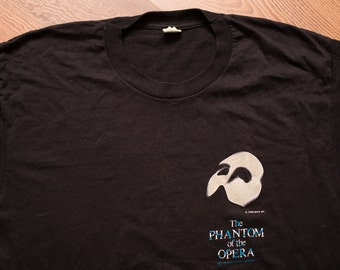 Glowing Phantom of the Opera T-Shirt, Glow-in-the-Dark, Screen Stars, Vintage 80s