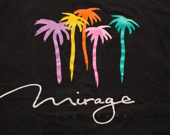 Mirage Las Vegas Tank Top, Hotel Casino Resort, Palm Trees Shirt, Vintage 80s-90s