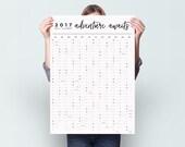 2017 Adventure Awaits - Wall Calendar Year Planner