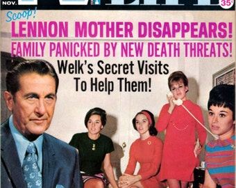 1970 TV Picture Life Magazine - Lawrence Welk & The Lennon Sisters on Cover!