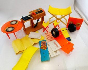 Barbie Furniture Camp Site Desk Computer Phone  Mod Doll Mattel Accessories 60s 70s 80s Kawaii Miniature