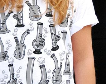 Bong t-shirt. pot t-shirt. marijuana shirt. cannabis t-shirt. weed shirt. funny t-shirt. graphic tee. mature humor. adult t-shirts.
