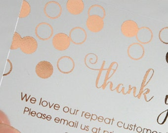 400 Business Cards - Frosted plastic stock - with copper bronze or hologram metallic foil - free rounded corners