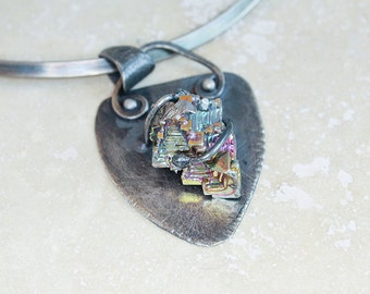 Crystal Bysthmith Artisan Pendant in Sterling Silver